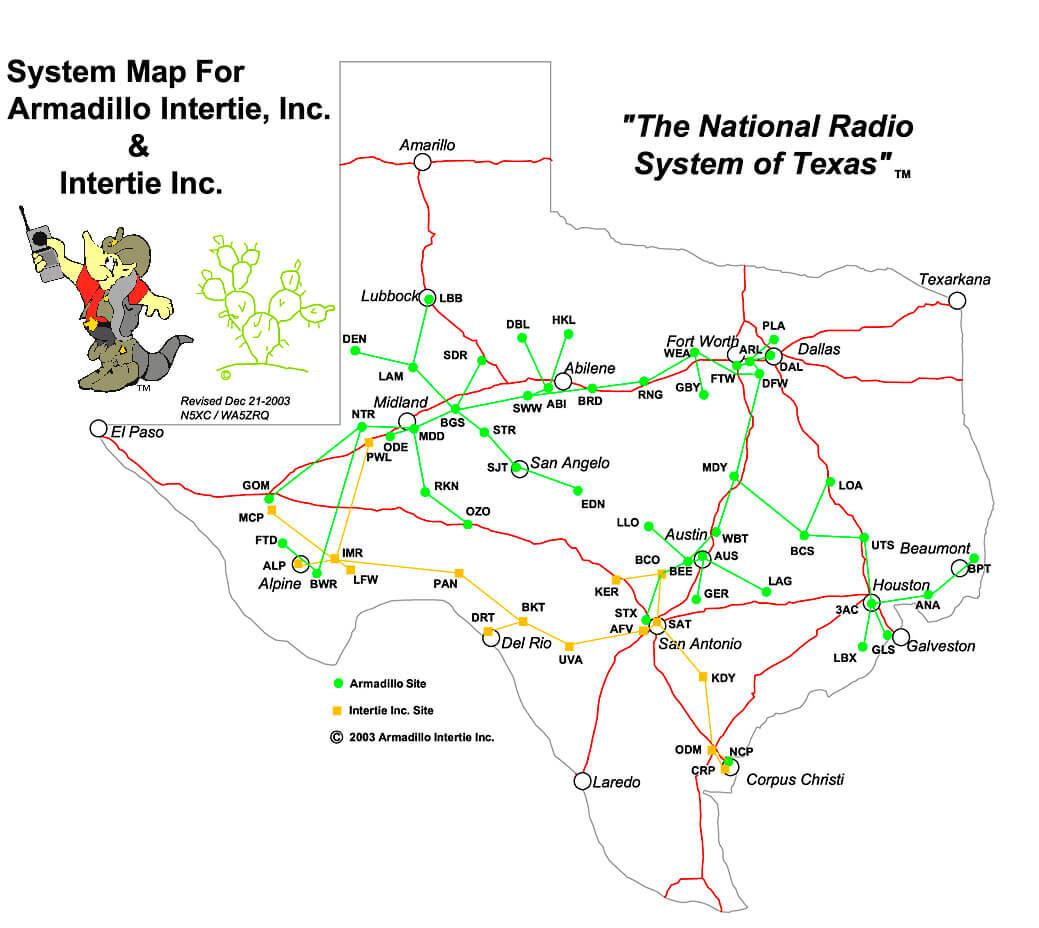 Armadillo Intertie System Map
